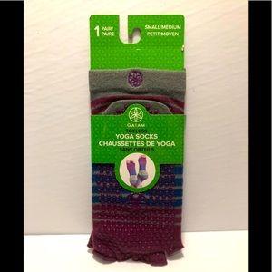 GAIAM toeless yoga socks grip BNWT